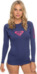 2018 Roxy Womens Wholehearted Long Sleeve Rash Vest DEEP COBALT ERJWR03221