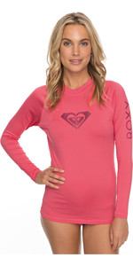 2018 Roxy Womens Wholehearted Long Sleeve Rash Vest ROUGE RED ERJWR03221