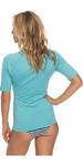2018 Roxy Womens Wholehearted Short Sleeve Rash Vest AQUARELLE ERJWR03219