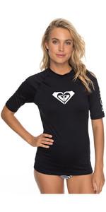 2019 Roxy Womens Wholehearted Short Sleeve Rash Vest ANTHRACITE ERJWR03219