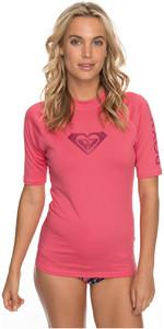 2018 Roxy Womens Wholehearted Short Sleeve Rash Vest ROUGE RED ERJWR03219