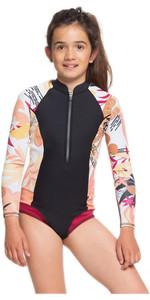 2020 Roxy Girls Popsurf 1mm Front Zip Long Sleeve Shorty ERGW403007 - Black