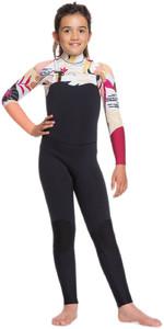 2020 Roxy Girls Popsurf 3/2mm Chest Zip Wetsuit ERGW103029 - Black / Terra