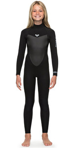 2019 Roxy Girls 3/2mm Prologue Back Zip Full Length Wetsuit Black ERGW103023