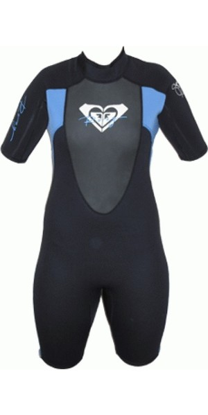 Roxy Ladies Syncro 2mm Shorty Wetsuit BLACK / BLUE SY65WS