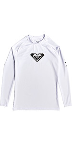 2019 Roxy Wholehearted Long Sleeve Rash Vest White ERJWR03221