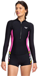 2019 Roxy Womens 1.5mm Pop Surf Long Sleeve Shorty Wetsuit Black ERJW403019