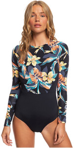 2020 Roxy Womens Fashion UV Long Sleeve Onesie ERJWR03374 - Anthractie Tropico