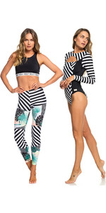 Roxy Womens Pop Surf UV Full Onesie & Leggings True Black Crazy Vic