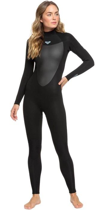 2021 Roxy Womens Prologue 4/3mm Back Zip Wetsuit ERJW103072 - Black