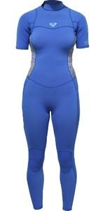 2018 Roxy Womens Syncro Series 2mm Short Sleeve Back Zip Wetsuit SEA BLUE ERJW303001