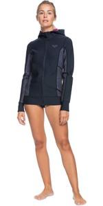 2020 Roxy Womens Syncro 1mm Front Zip Paddle Jacket ERJW803022 - Black / Jet Black