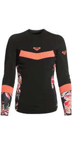 2020 Roxy Womens Syncro 1mm Long Sleeve Jacket ERJW803021 - Black / Bright Coral