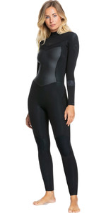 2021 Roxy Womens Syncro 4/3mm Back Zip GBS Wetsuit ERJW103054 - Black / Jet Black