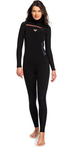 2019 Roxy Womens Syncro 5/4/3mm Hooded Chest Zip Wetsuit Black / Gunmetal ERJW203004