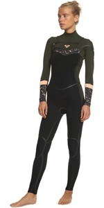 2020 Roxy Womens Syncro Plus 4/3mm Chest Zip LFS Wetsuit ERJW103059 - Black / Dark Ivy