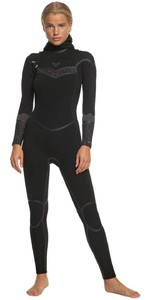 2020 Roxy Womens Syncro Plus 5/4/3mm Hooded Chest Zip Wetsuit ERJW203007 - Black