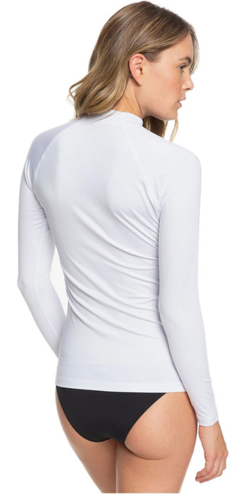 2020 Roxy Womens Enjoy Waves Long Sleeve Rash Vest ERJWR03368 - Bright White