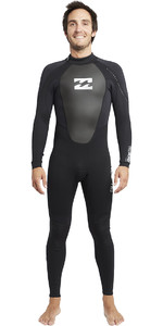 2019 Billabong Intruder 3/2mm Flatlock Wetsuit BLACK S43M03