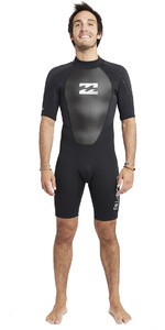 2019 Billabong Mens Intruder 2mm Back Zip Shorty Wetsuit Black S42M21