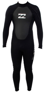 2019 Billabong Junior Intruder 3/2mm Flatlock Wetsuit BLACK S43B04