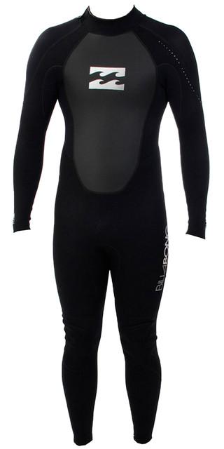 2018 Billabong Toddler Intruder 3/2mm Wetsuit Black S43b05 Picture