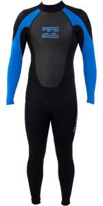 Billabong Junior Intruder 3/2mm Flatlock Wetsuit BLACK / BLUE S43B04
