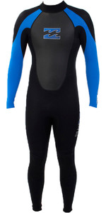 Billabong Junior Intruder 3/2mm Flatlock Wetsuit BLACK / BLUE S43B04