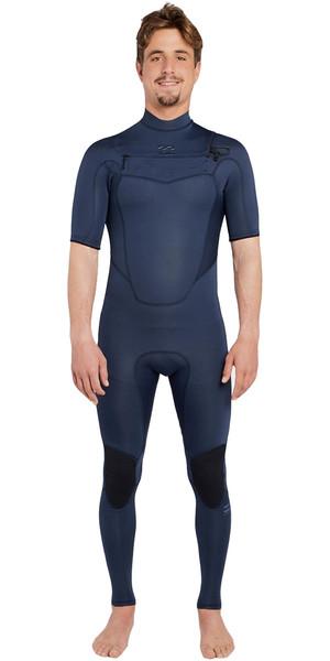 2018 Billabong Absolute 2mm Chest Zip Short Sleeve Wetsuit SLATE H42M25