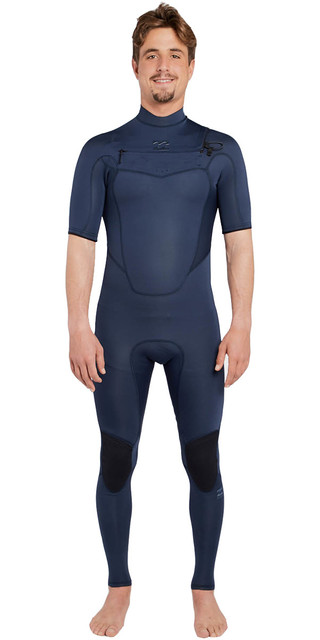 2018 Billabong Absolute 2mm Chest Zip Short Sleeve Wetsuit Slate H42m25 Picture