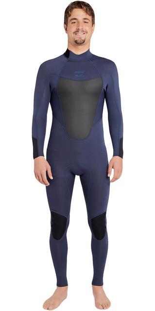 2018 Billabong Absolute 3/2mm Back Zip Flatlock Wetsuit Slate H43m15 Picture