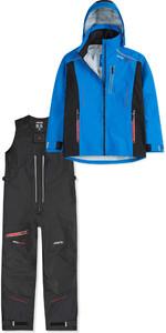 2019 Musto Mens BR2 Sport Jacket SMJK084 & Salopettes SMTR049 Combi Set Blue / Black