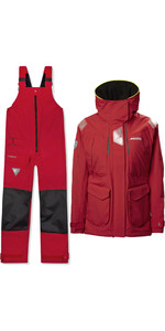 2021 Musto Womens BR2 Offshore Jacket & BR1 Trouser Combi Set - Red
