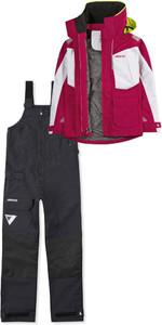 2019 Musto Womens BR2 Offshore Jacket SWJK014 & Trouser SWTR010 Combi Set Cerise White / Black