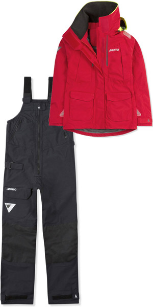 2019 Musto Womens BR2 Offshore Jacket SWJK014 & Trouser SWTR010 Combi Set Red / Black