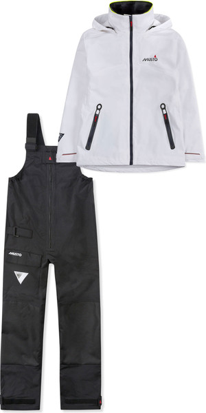 2019 Musto Womens BR1 Inshore Jacket SWJK016 & Trouser SWTR011 Combi Set White / Black