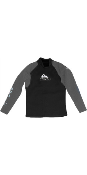 Quiksilver Syncro 1.5mm Long Sleeve Neo Top in Black / Grey SY83AS