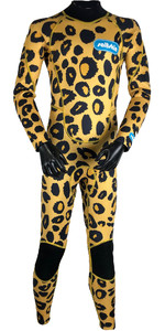 2019 Saltskin Junior 3/2mm Back Zip Wetsuit - Leopard