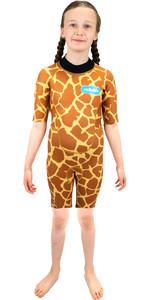 2021 Saltskin Junior 2mm Back Zip Shorty Wetsuit STSKNGRFF02 - Giraffe