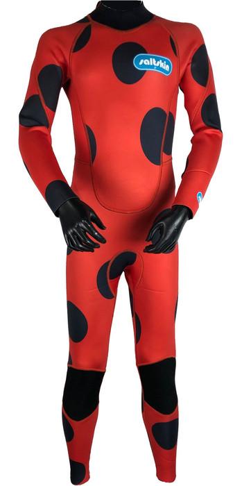 2020 Saltskin Junior 3/2mm Back Zip Wetsuit - Ladybird