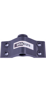 Sea Sure 10mm Bottom Transom Gudgeon 4-Hole Mounting With Carbon Brush - 6mm Mounting Holes