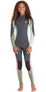2019 Billabong Junior Girls Furnace Synergy 3/2mm Back Zip GBS Wetsuit Seafoam N43B07