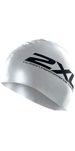 2XU Silicone SWIM Cap Hat in SILVER US1355