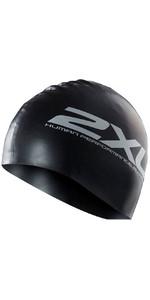 2XU Silicone SWIM Cap Hat BLACK US1355