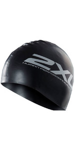 2XU Silicone SWIM Cap Hat BLACK US1355