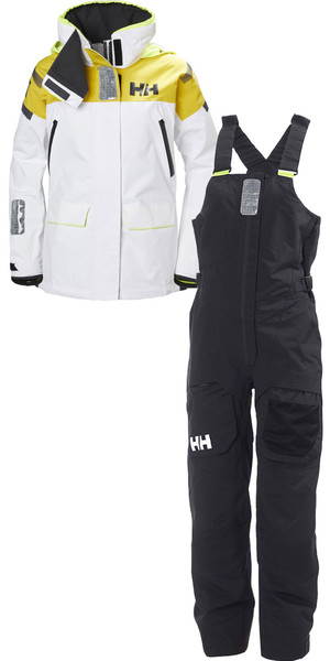 2018 Helly Hansen Womens Skagen Offshore Combi Set White / Black