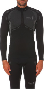 2020 Slam Stockton Half Zip Base Layer Top Black S119016T00