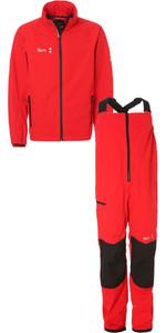 2019 Slam WIN-D Sailing Jacket + Trouser Combi Set Red