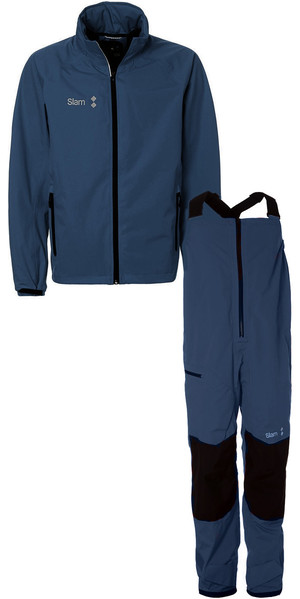 2019 Slam WIN-D Sailing Jacket + Trouser Combi Set Navy