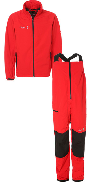 2019 Slam WIN-D Sailing Jacket + Trouser Combi Set Red